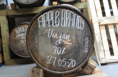 Roseland Apple Brandy maturing in an American Buffalo Trace Bourbon Barrel