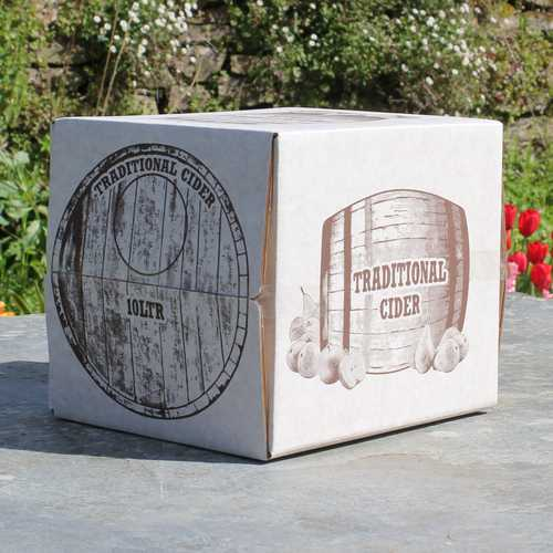 10 litres draught cider in a bag in box